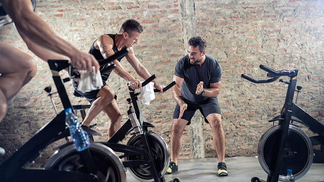 Спиннинг тренировка на велотренажере